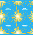 summer sun seamless pattern vector image