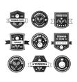 Tennis sporting vintage emblems vector image