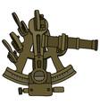 Historic brass sextant vector image