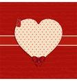 valentine heart label background vector image vector image