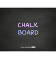 black chalkboard vector image