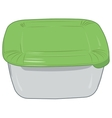 Plastic box for storage of products isolated vector image
