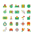 Color Navigation Icons Set vector image
