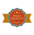 High quality round vintage banner vector image