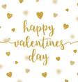 Valentines greeting card glitter gold calligraphy vector image vector image