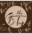 Set of coffee shop handwritten lettering vector image