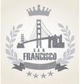 Grunge San Franciso icon laurel weath vector image