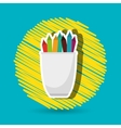 pencil holders design vector image