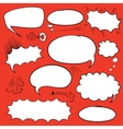 Set comics bubbles vector image