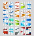 Set of tri-fold brochure design vector image