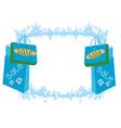 shopping bag - winter sale card vector image