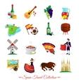 Spain For Travelers Cultural Symbols Set vector image