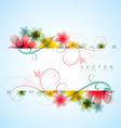 stylish flower background vector image