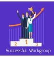 Successful Workgroup People Design vector image