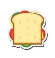 sandwich with olive icon vector image