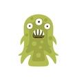 Green Three-eyed Aggressive Malignant Bacteria vector image
