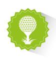 golf sport emblem icon vector image