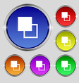 Active color toolbar icon sign Round symbol on vector image