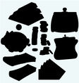 Set of valuable things vector image vector image