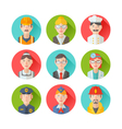 Set of flat portraits icons with people vector image vector image