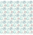Seamless floral spiral pattern Twirl lines Twist vector image