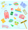 Travel symbols vector image