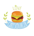 Cheeseburger on white background vector image