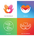 charity and volunteer concepts vector image