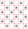 Football Ball Red Grid White Background vector image