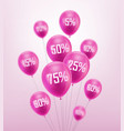 flying pink discount balloon vector image