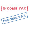 income tax textile stamps vector image