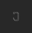 Letter J logo monogram modern style design element vector image