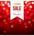 Chrismas sale banner on bokeh background vector image