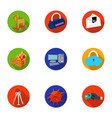a selection of icons about protection and breaking vector image