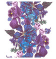 seamless colorful floral border vector image