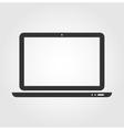 Laptop web icon flat design vector image