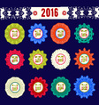 Calendar 2016 with decorative round elements vector image