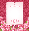 abstract love banner vector image vector image