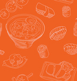 seamless pattern with japan food - vector image vector image