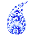 blue flower composition vector image