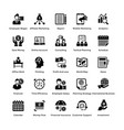 business and finance glyph icons set 8 vector image