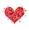 Heart of various hearts vector image
