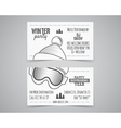 Holiday Identity templates Christmas business vector image