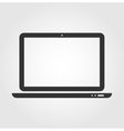 Laptop web icon flat design vector image