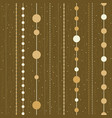 seamless pattern of chains from christmas vector image