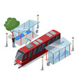 tramway stop isometric 3d icon vector image