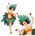 Woman samba dancer Rio carnival vector image