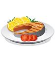 steak salmon vector image vector image