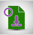the icon with download symbol vector image