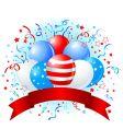 American flag balloons design vector image vector image